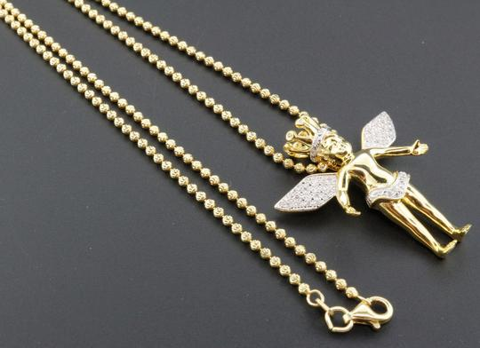 Preload https://img-static.tradesy.com/item/22811212/jewelry-for-less-yellow-diamond-angel-crown-pendant-sterling-silver-025-ct-w-chain-charm-0-0-540-540.jpg