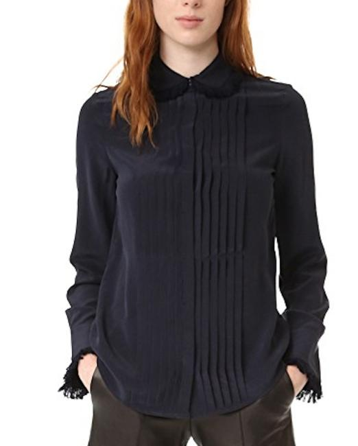 Preload https://img-static.tradesy.com/item/22811279/zadig-and-voltaire-navy-blue-tenri-fringed-blouse-button-down-top-size-0-xs-0-0-650-650.jpg