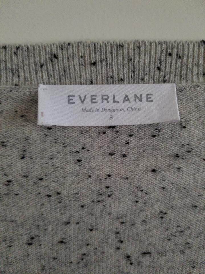 412aa157e5 Everlane Cashmere Crop V-neck Donegal Frost Sweater - Tradesy