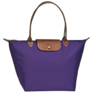 Longchamp Tote in Amethyst/Gold