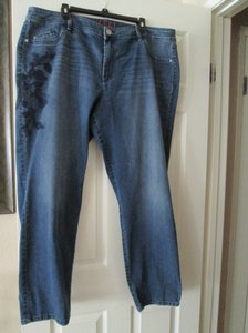 Elle Leg Jeans Straight Pants Blue