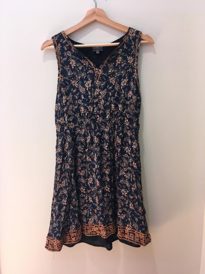 abc579c0103f Market & Spruce short dress Dark Blue Summer Embroidered Paisley Rayon  Polyester on Tradesy Image 0 ...