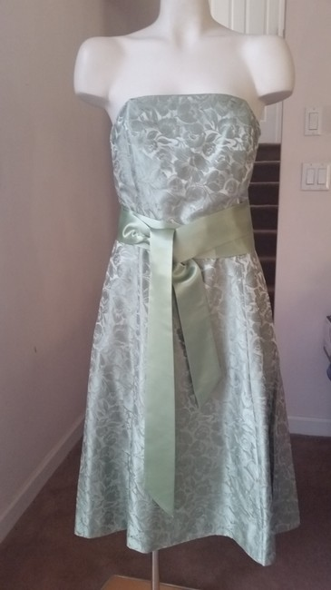 Item - Green Silk Strapless Mid-length Night Out Dress Size 6 (S)