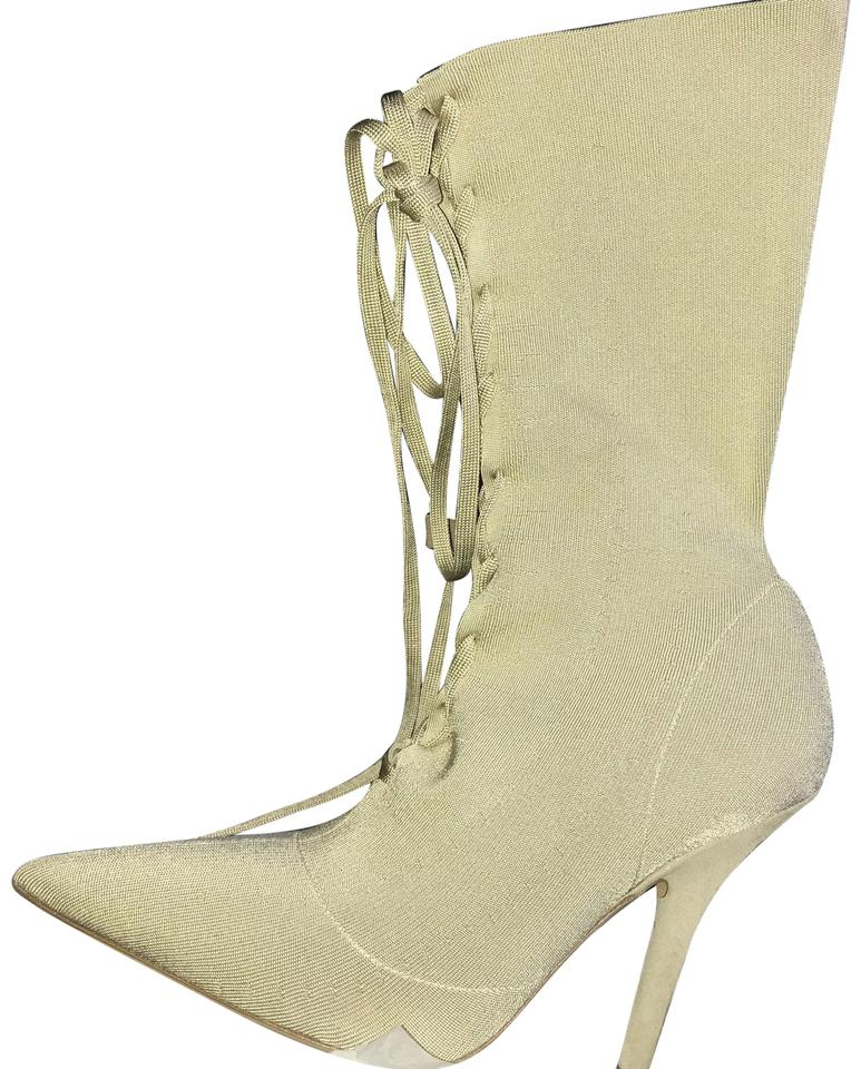 604204a2572 YEEZY Gold Tan Season 5 Knit Ankle Boots Booties. Size  US 8 Narrow ...