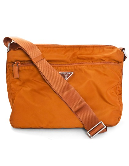cbfa41e98327 Prada Tessuto Messenger Orange Nylon Cross Body Bag - Tradesy