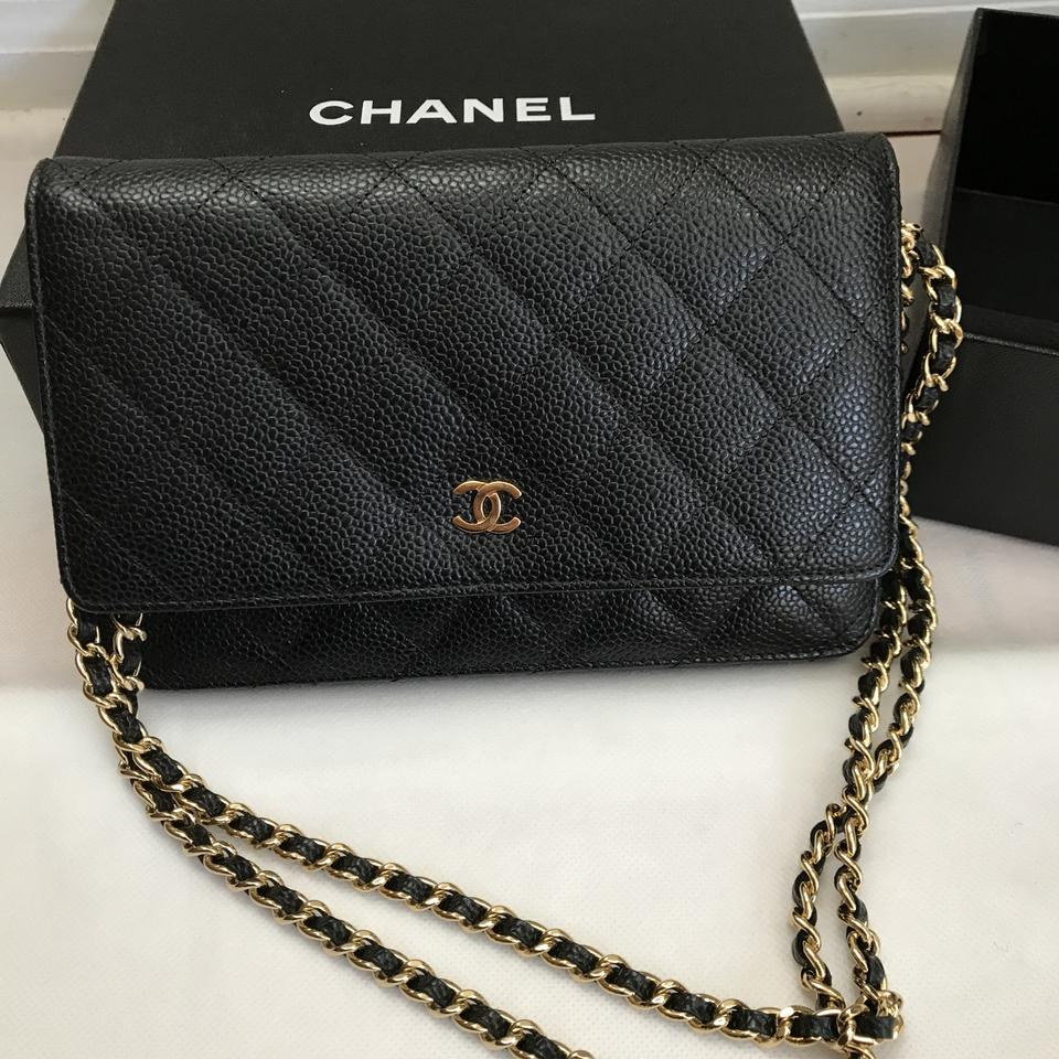4888dbf3751f Chanel Wallet on Chain Wallet On A Chain Black Caviar .