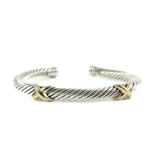 David Yurman David Yurman Sterling Silver 14K Yellow Gold 5mm XX Bracelet