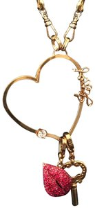 Juicy Couture Chain heart necklace with 2 charms