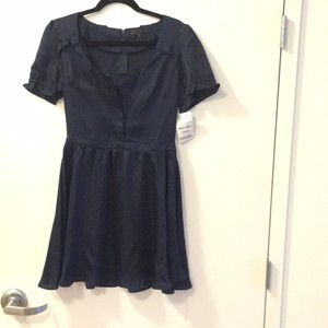 Lucca short dress Navy Blue on Tradesy