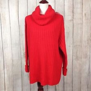 f6f553d424 Added to Shopping Bag. H M Sweater. H M Turtleneck Red Red-orange Sweater