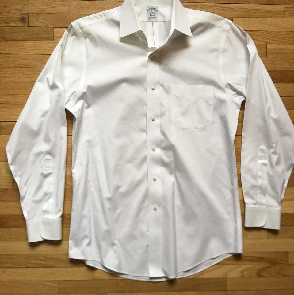 Brooks brothers white men s classic fit non iron button up for Brooks brothers non iron shirt review
