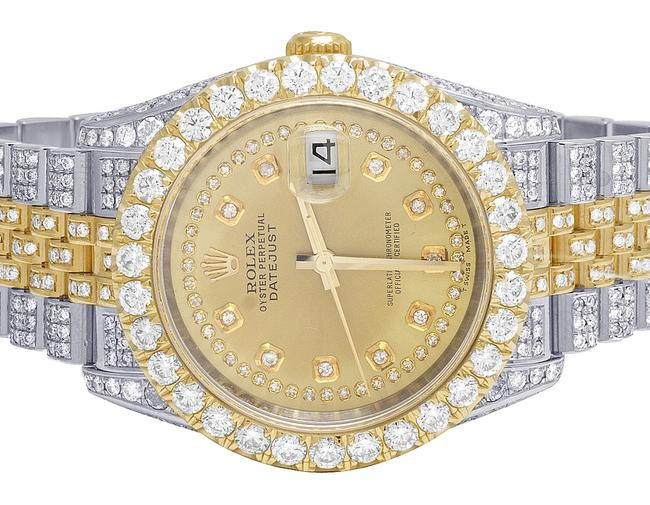 Rolex Two Tone Datejust 36mm 116233 18k/ Steel Full Diamond 18.75 Ct Watch Rolex Two Tone Datejust 36mm 116233 18k/ Steel Full Diamond 18.75 Ct Watch Image 1