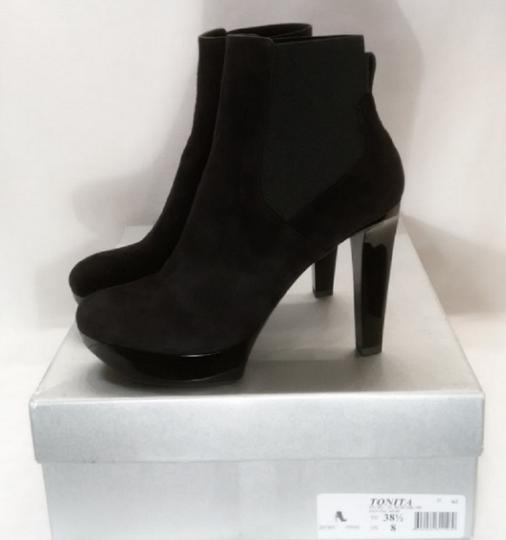 Robert Clergerie Ankle Black Suede Boots Image 1