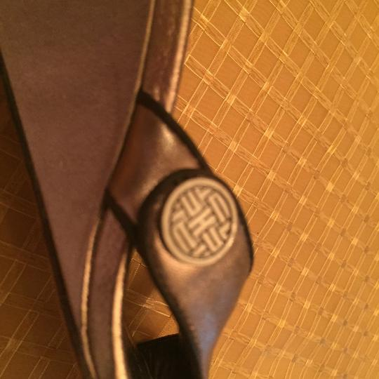 Cole Haan Gold/bronze with brown inside sole Wedges Image 7