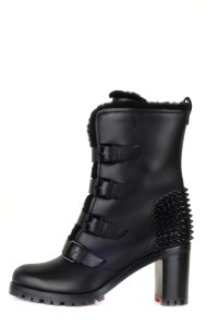 fa64b15b2d7 Black Leather Boots/Booties