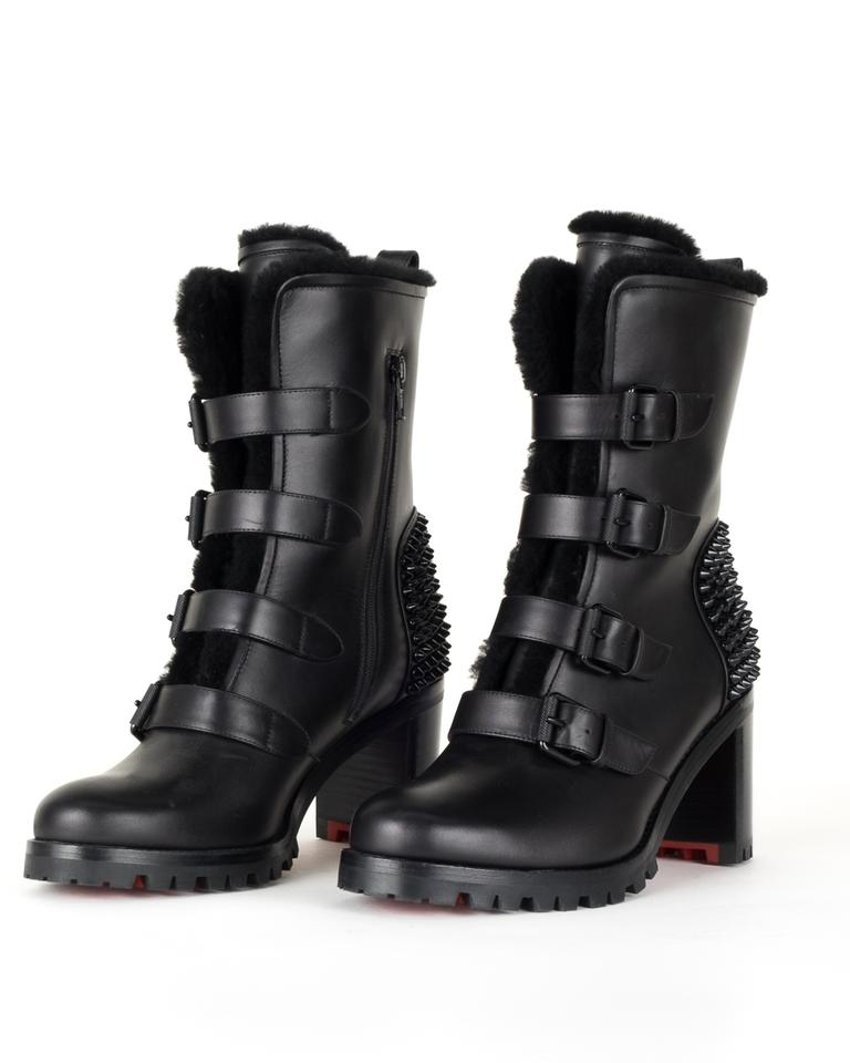 buy online 4232a 102fd Black Leather Boots/Booties