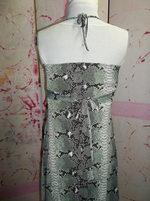 Just Be short dress Brown/Olive/Cream Alligator Print Brown Olive Green Cream Ties In Back on Tradesy