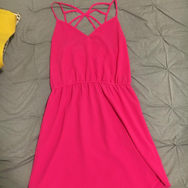 Preload https://img-static.tradesy.com/item/22813390/naked-zebra-pink-short-cocktail-dress-size-4-s-0-0-650-650.jpg
