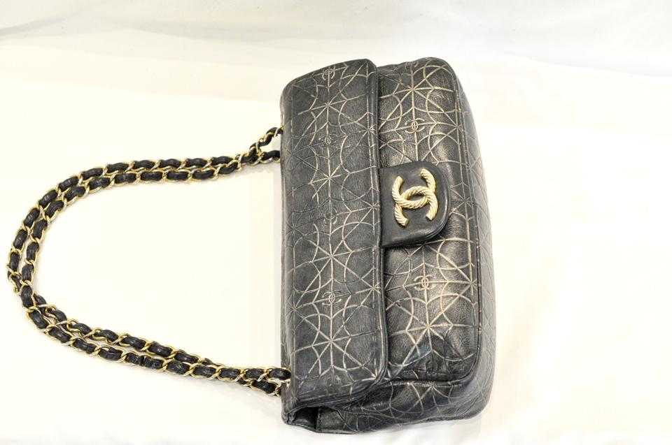cb8c1f448f4a Chanel Classic Flap Moujik Paris Moscow Grey Leather Shoulder Bag - Tradesy