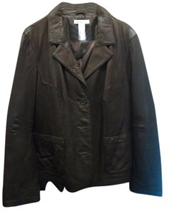 Liz Claiborne Leather Kidskin Fall Size 16 Size Xl Gift Leather Soft Free Shipping Womens BRAND NEW brown Leather Jacket