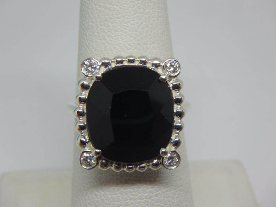d678a791cb911 Tiffany & Co. Silver and Black Ziegfeld Collection Spinel Diamond Ring 34%  off retail