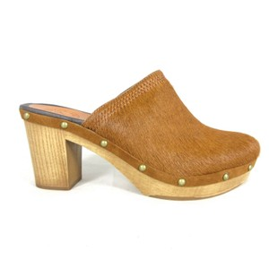 Penelope Chilvers Stdded Pony Texture BROWN Mules