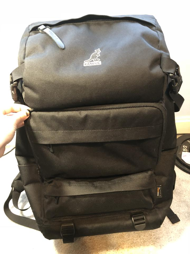 3c75ab9f86 Kangol Glamping Backpack Black Weekend Travel Bag - Tradesy