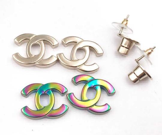 Chanel Chanel NWT Rare Classic Turnlock Exchangeable Piercing Earrings Image 2