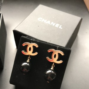 Chanel Special Edition Gold Flakes Ball Dangling Earrings