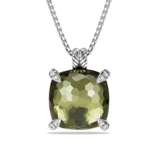 David Yurman David Yurman Diamond Chatelain Green Orchid pendant