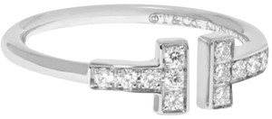 "Tiffany & Co. Tiffany & Co. ""T"" ring 18k Gold .13 carat diamonds"