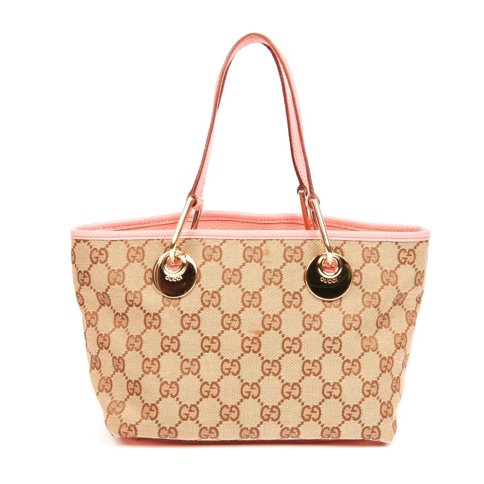 33a2f600739d Gucci Gg Canvas Leather Tote in Monogram 5585 Image 0 ...