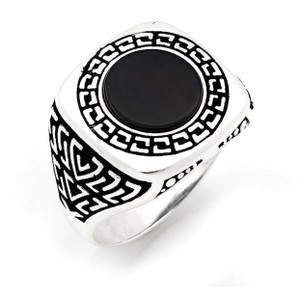 Other SILVER UNIQUE ONYX STONE RING