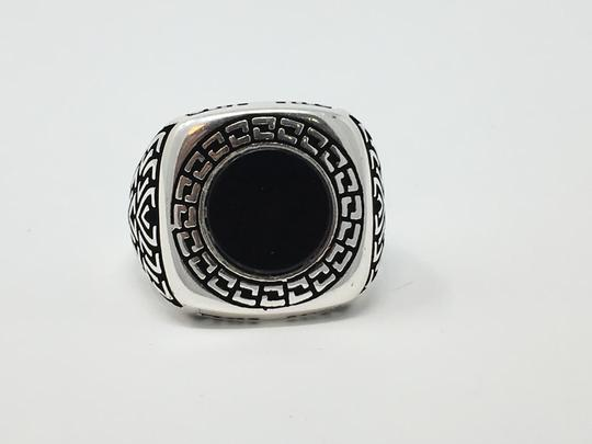 Other SILVER UNIQUE ONYX STONE RING Image 2