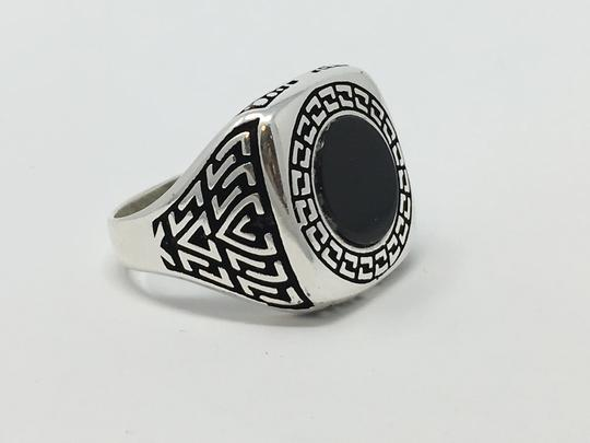 Other SILVER UNIQUE ONYX STONE RING Image 3