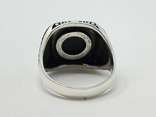 Other SILVER UNIQUE ONYX STONE RING Image 4