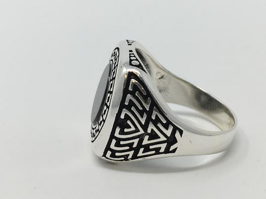 Other SILVER UNIQUE ONYX STONE RING Image 5
