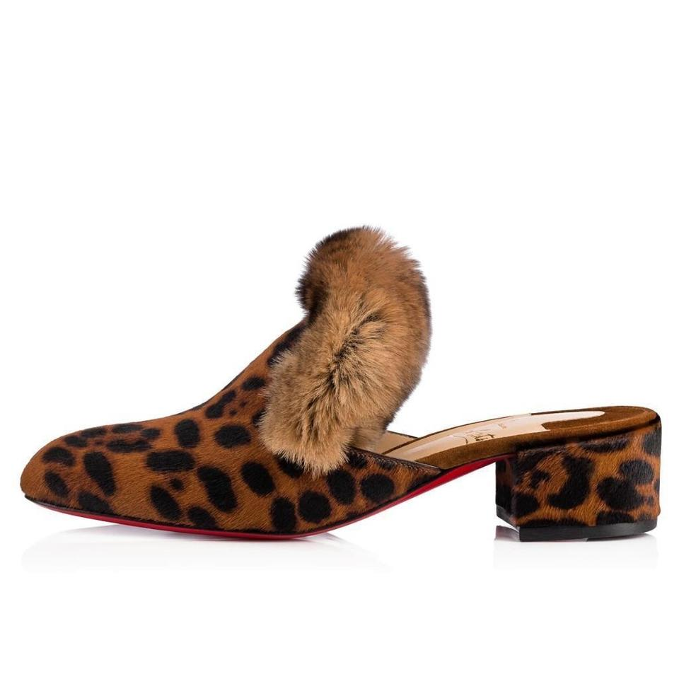 christian louboutin brown leopard boudiva calf pony rabbit fur