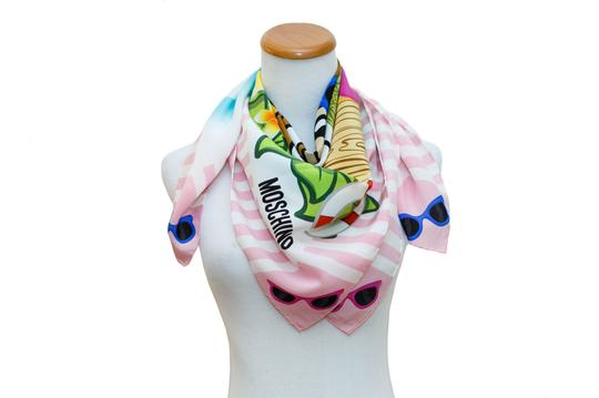 Moschino NEW AUTHENTIC BOUTIQUE MOSCHINO MULTICOLOR TEDDY BEAR PINK SILK ITALY Image 1