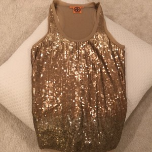 Tory Burch Sequins Tank Top Gold