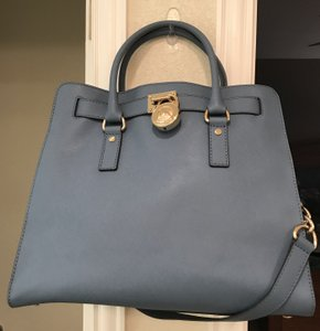 d0b7d55037c91c Michael Kors North South Convertible Heritage Royal Light Tote in  Cornflower Blue