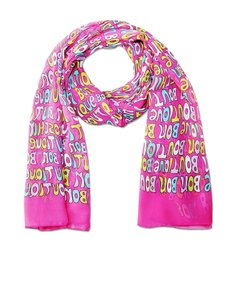 Boutique Moschino AUTHENTIC MOSCHINO CHEAP AND CHIC PINK LETTERS SILK ITALY WOMEN OBOLON