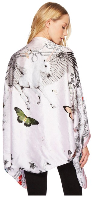 Item - Plae Pink Enchant Enchanted Dream Print Silk Scarf Poncho/Cape Size OS (one size)