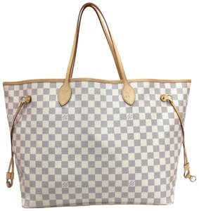 Louis Vuitton Lv Damier Neverfull Canvas Shoulder Bag