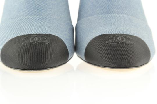Chanel Blue and Black Mules