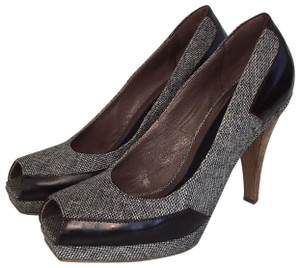 Marni Tweed Leather Italian Brown Pumps