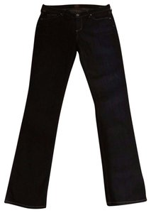 Citizens of Humanity Stretchy Long Straight Leg Jeans-Dark Rinse