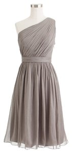 J.Crew One Silk Chiffon Wedding Graphite Bridesmaid Prom Flowy Dress