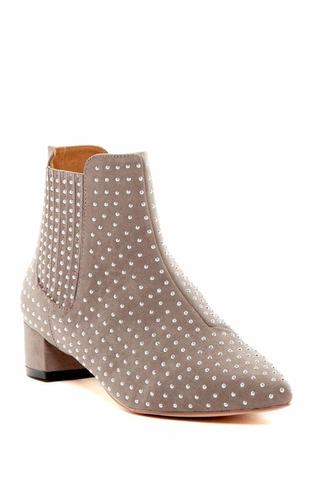 Topshop Topshop Topshop Taupe Studded Ankle Killer Boots/Booties b53908