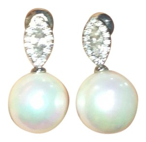 Statement Earrings diamond and pearl (costume)